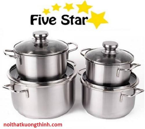Bộ nồi Fivestar 4 chiếc nổi trội những tính năng mới
