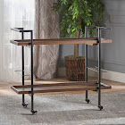 Gerard Industrial Wood Bar Cart by Christopher Knight Home Walnut