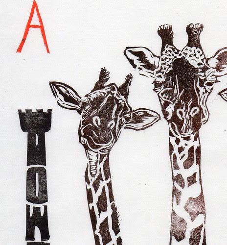 giraffes detail