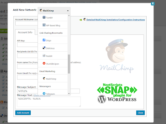 New Release: SNAP for Wordpress Version 3.7 - NextScripts