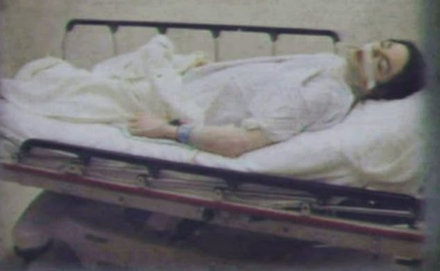 Tragedy: Picture shown in court of Jackson¿s body in hospital during Dr Murray's trial