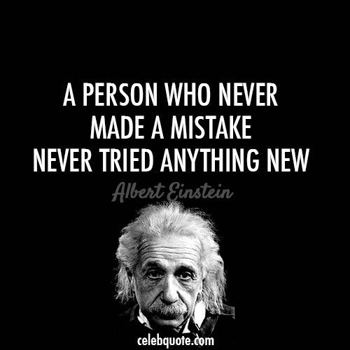 Albert Einstein Quote About Try Success Mistake Life Failure