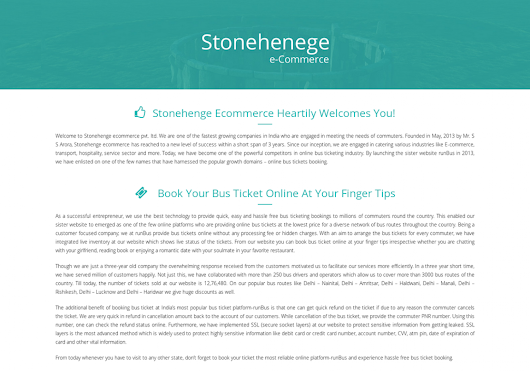 Stonehenge E-Commerce Pvt Ltd is Best E-commerce Company in Delhi | Visual.ly