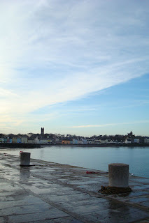 View from harbour into Donaghadee