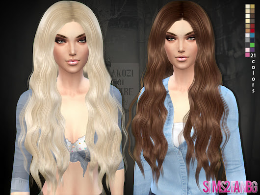 Sims 4 Hairs ~ The Sims Resource: Long curly 02 hairstyle by Sims2fanbg