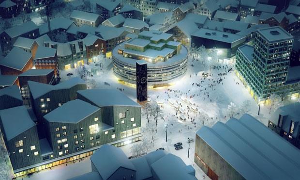 Arquitetos por trás do projeto da nova cidade vislumbram uma cidade com maior ênfase em sustentabilidade (Foto: White Arkitekter)