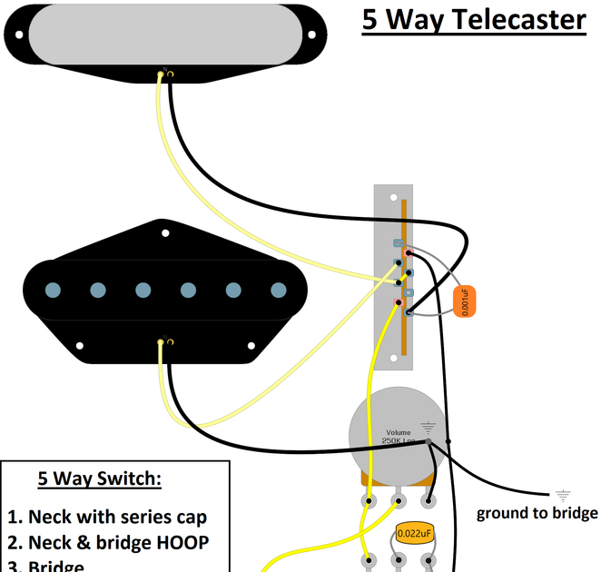 5 Way Telecaster Wiring Diagram