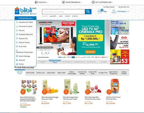 Homepage Blibli.com