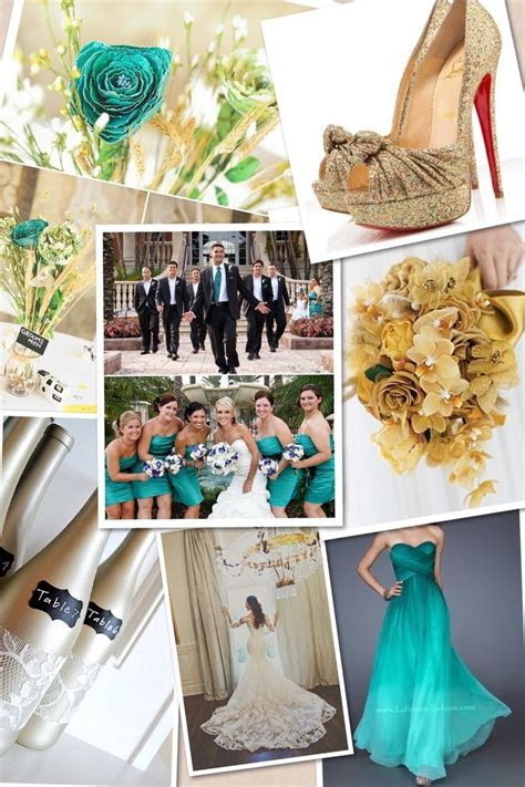 teal and gold wedding theme   wedding ideas!   Pinterest