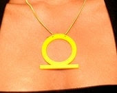 Yellow Acrylic Shenu Ring Pendant Necklace