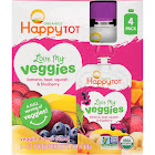 Happy Tot Love My Veggies Baby Food - 4 count, 4.22 oz pouches