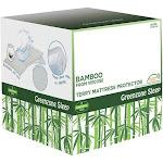 Greenzone Bamboo Terry Mattress Protector- Twin - White