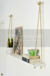 diy rope shelf ,burkatron, craft, uk, blogger