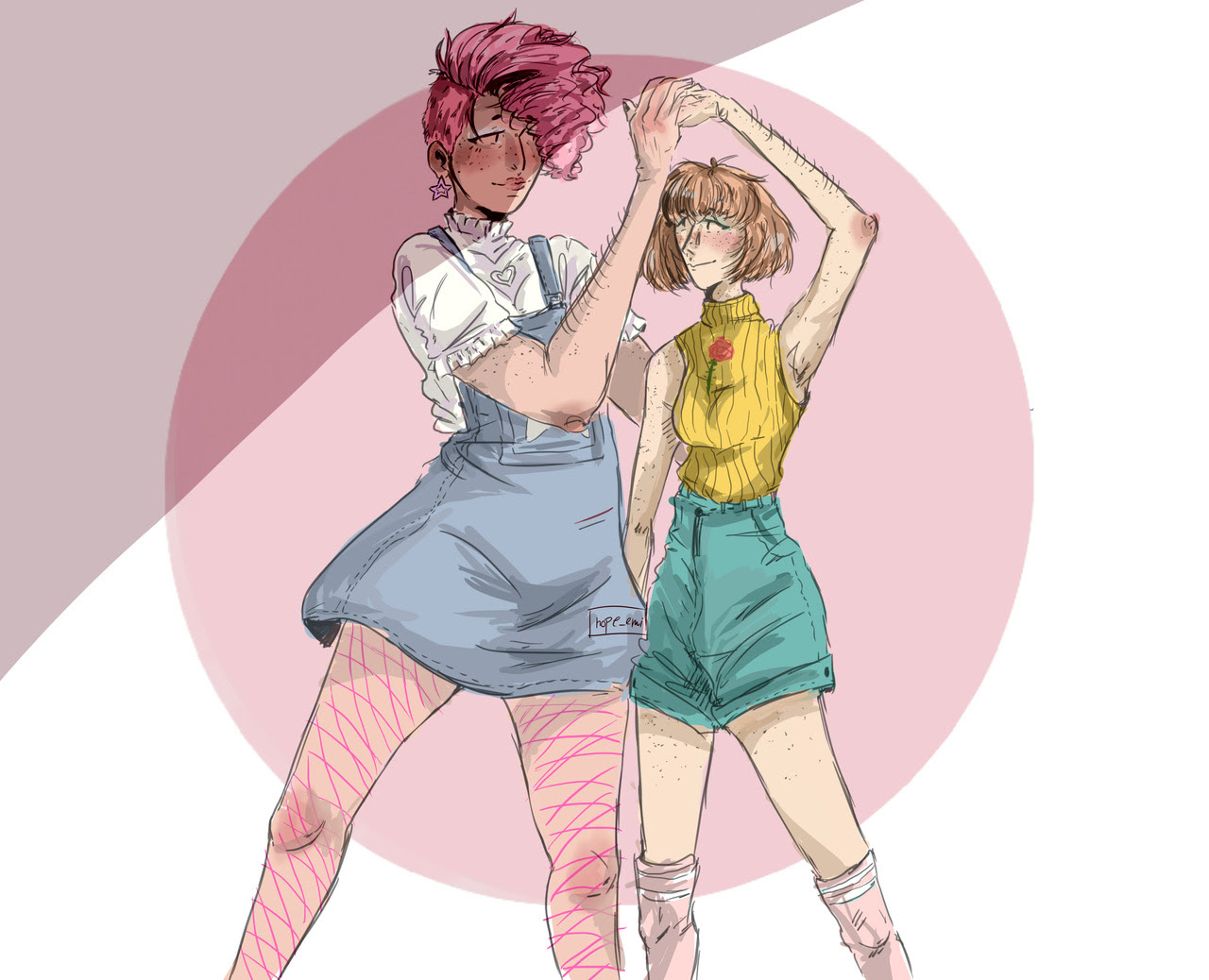 steven universe au where rose and pearl are modern 2018 teen lesbians and im crying more