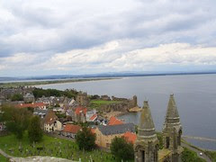 View from St. Rules Tower in St. Andrews