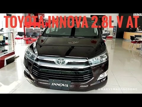 VIDEO: Toyota INNOVA 2.8 V(Top-end) AT | Blackish RED (Philippines) | Video by Marvin Masongsong