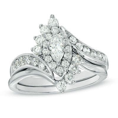 1 1/2 CT. T.W. Diamond Marquise Diamond Bridal Set in 14K
