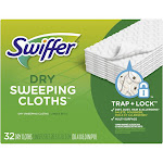 Swiffer Sweeper Dry Sweeping Pad Multi Surface Refills for Dusters Floor Mop - Unscented - 32ct