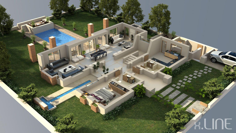 Luxury house  3D House Plans \u0026 Floor Plans  Pinterest