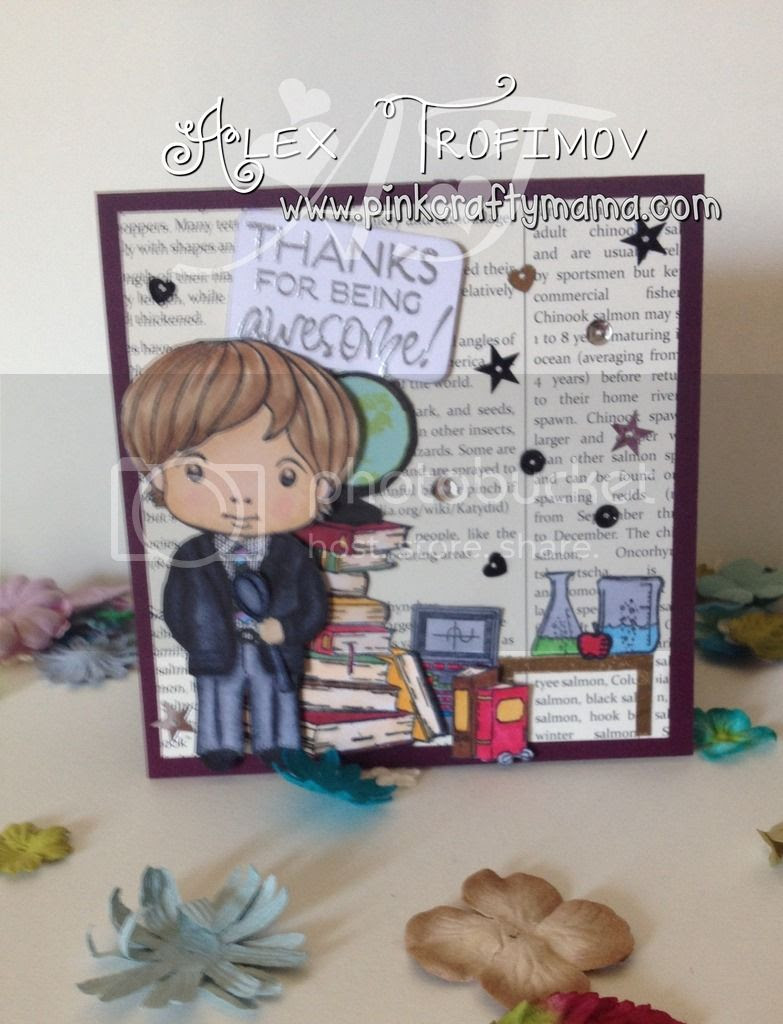 thank you, card, teacher, verve, taylored expressions, maya road, stampin up, Stampin' Up!, La-La Land, school, copic, markers, copics, coloring, fussy cuttng, spoonie,