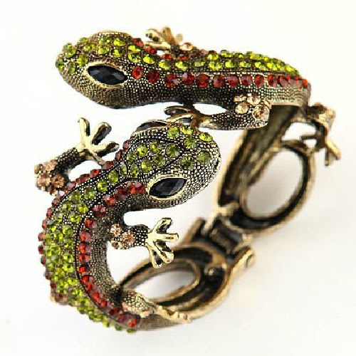 Personalized Green Zircon Lizard Emo Masquerade Ball Bracelets Jewelry SKU-10805068