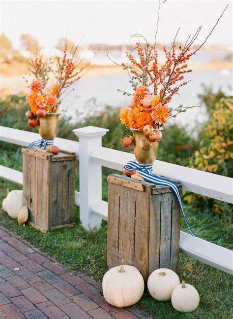 Chic Fall Wedding Decor Ideas   B Loved Boston