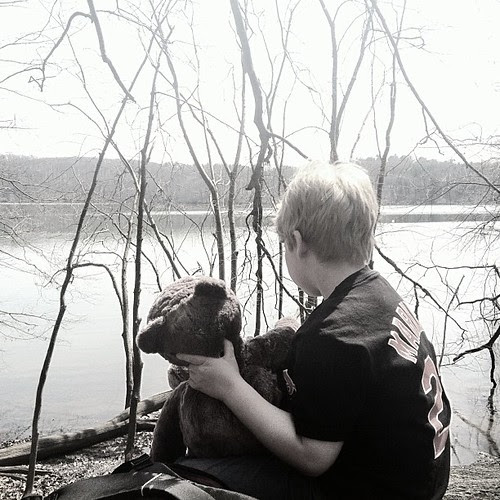 A boy and his bear...