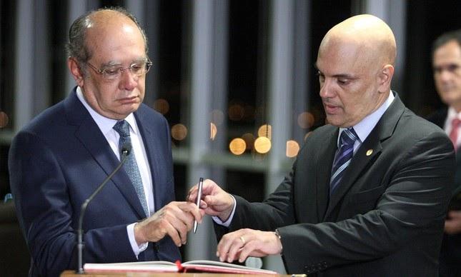 Gilmar Mendes defende Censura de Moraes, mas ambos foram mencionados nos depoimentos e grampos feitos por Joesley Batista em depoimento a PF