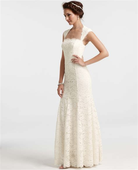 Ann taylor Isabella Lace Wedding Dress in White   Lyst