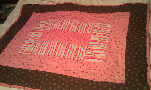 Pink and Chocolate Baby Quilt