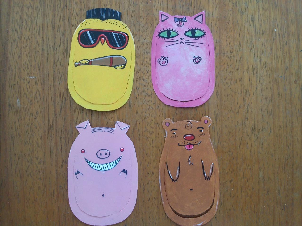 Cortada!  Clipe bookmarks, se você preferir!  :) Garota má, USD 4,00 Snob Kitty, USD 4,00 Piggie Dangerous, USD 4,00 Baby Bear, USD 4,00 Ou tudo por USD 15,00!  Brasileiros, R $ 6,00 CADA UO Todos por R $ 20,00!  Contato via askbox, não se esqueça de seu e-mail e CEP!