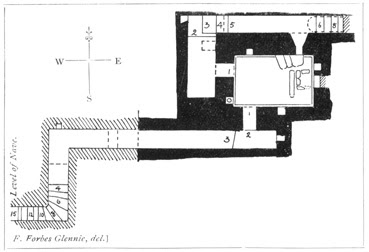 Drawing of the plan of the crypt