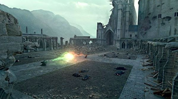 Lord Voldemort and Harry Potter battle for the final time in HARRY POTTER AND THE DEATHLY HALLOWS, Part 2.