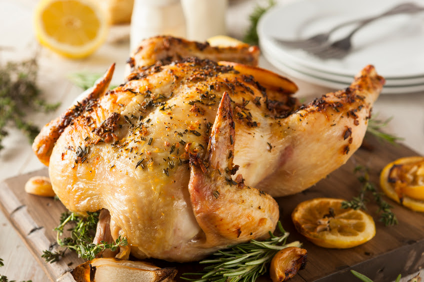 Homemade Lemon and Herb Whole Chicken