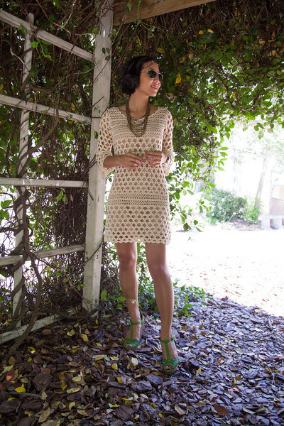 Crochet Dress with Restricted Footwear - Kate Style Petite