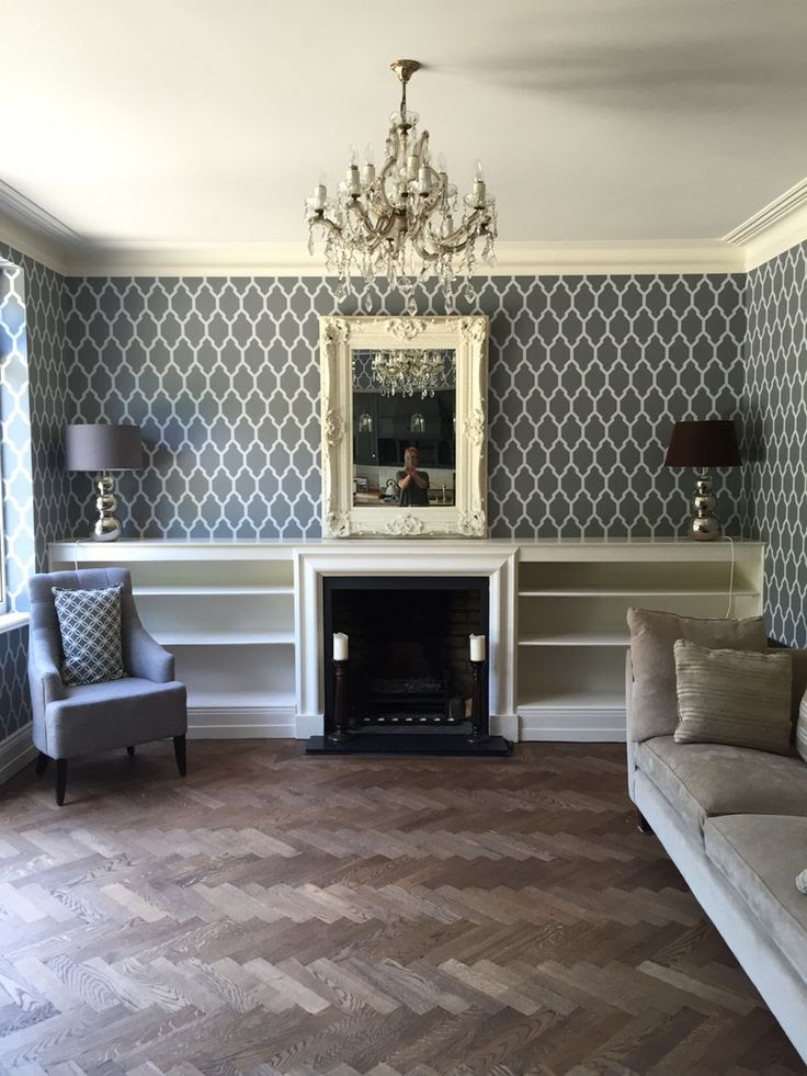 Newly Decorated Lounge In Farrow And Ball Tessella