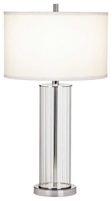 Contemporary Striated Glass Cylinder Table Lamp - contemporary ...