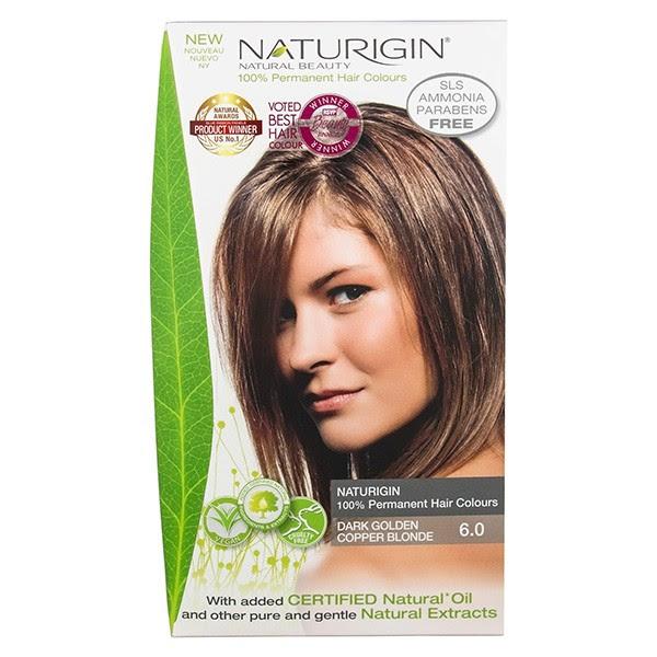 Buy Naturigin Organic Hair Colour 6 Dark Golden Copper Blonde Save  Hairbodyskin.com.au