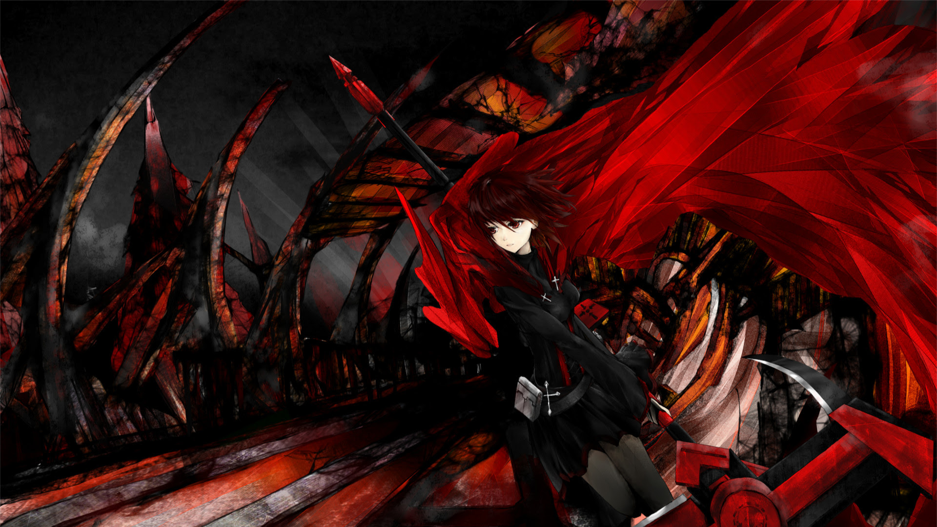 Red And Black Anime Wallpaper 72 Images