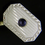Carrington & Co sapphire and diamond cufflinks. (J8986)