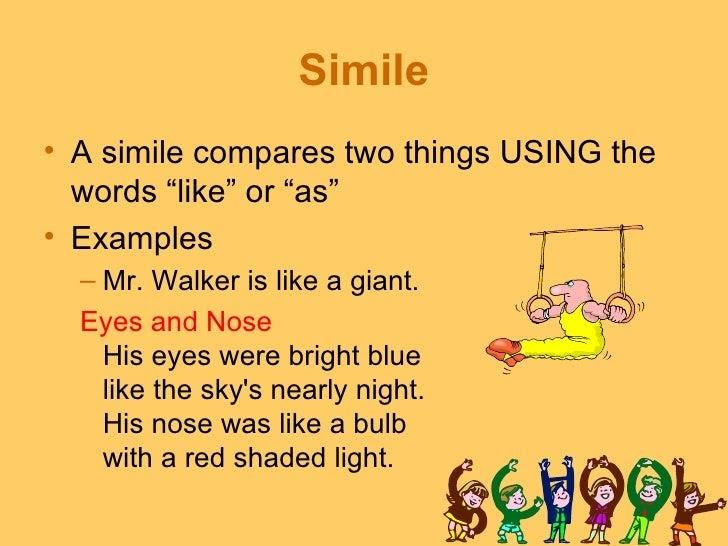 Simile examples simile