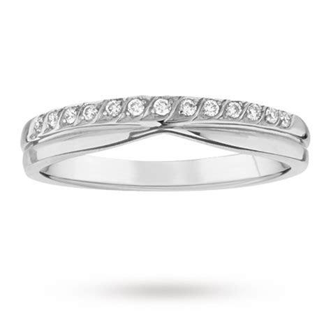 Ladies 3mm platinum wedding band set with 0.09 total carat