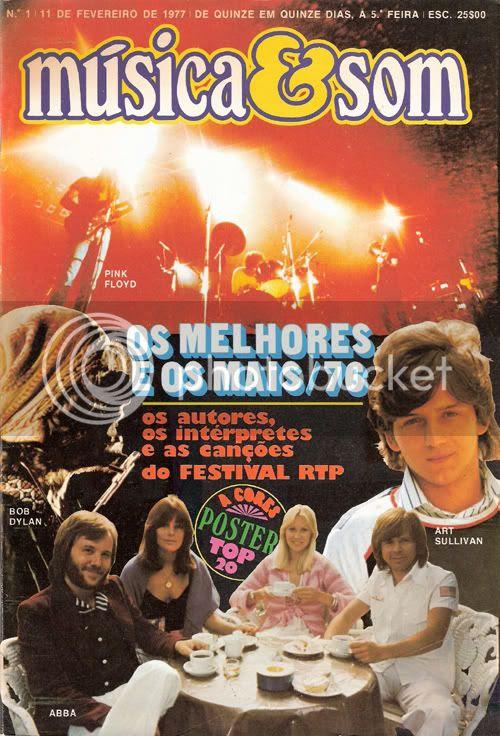 Reprodução da capa do número 1 de Música & Som, datado de 11 de Fevereiro de 1977