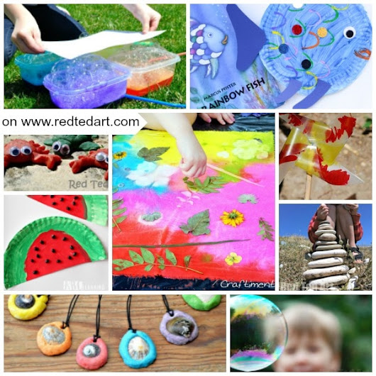 47 Summer Crafts for Preschoolers to Make this Summer! - Red Ted Art's Blog