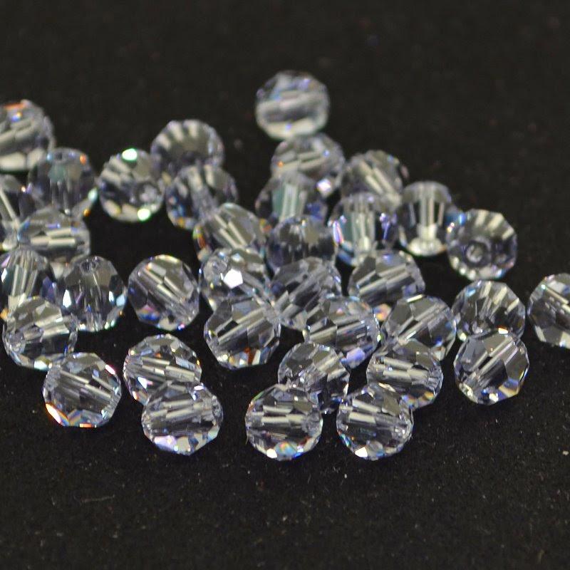 27750001725265 Swarovski Elements Bead - 6 mm Faceted Round (5000) - Smokey Mauve (1)