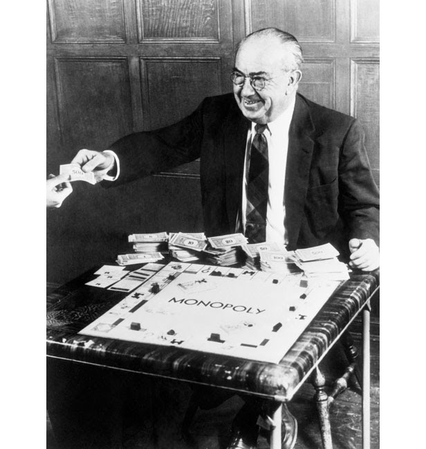Charles B. Darrow with his money-spinning invention.