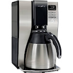 Mr. Coffee Optimal Brew BVMC-PSTX91 10-Cup Coffee Maker with Stainless Steel Thermal Carafe - Black/Stainless Steel