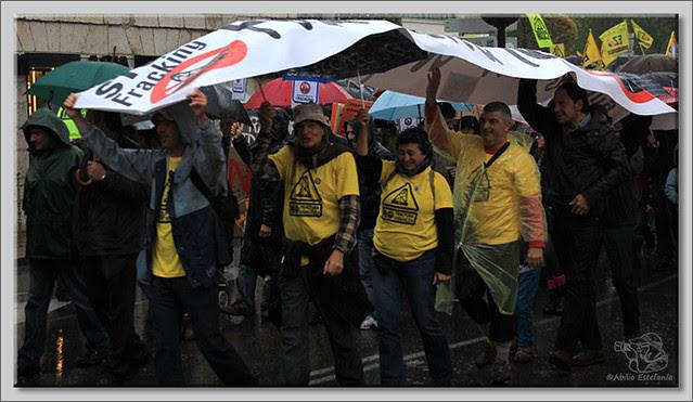 6 Manifestación contra el fracking en Burgos