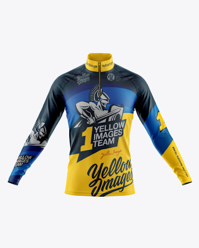Download Free Men's Cycling Jersey With Long Sleeve Mockup - Front ...