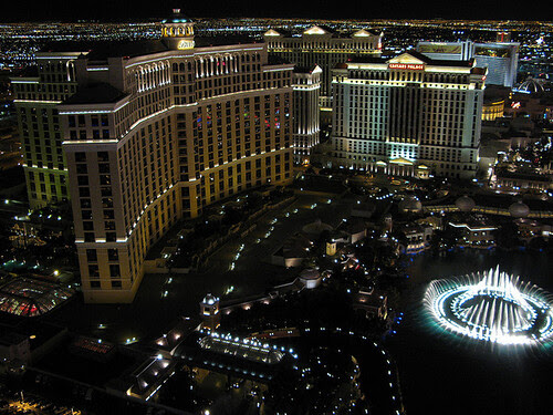 Bellagio Fountains From Floor 66